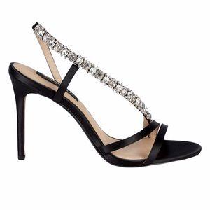 Ava & Aiden Crystal strap sling back sandals